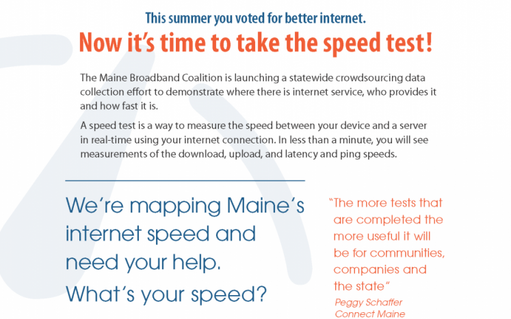 Maine Broadband Coalition Speed Test